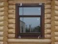 пластиковые окна в доме из дерева